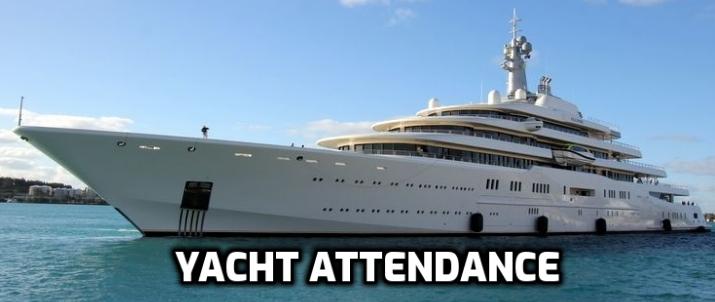 yacht attendance