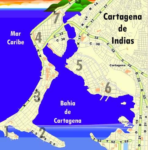 Mapa Cartagena Colombia